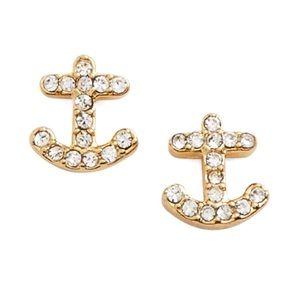 Kate Spade • Anchors Away Stud Earrings • Gold